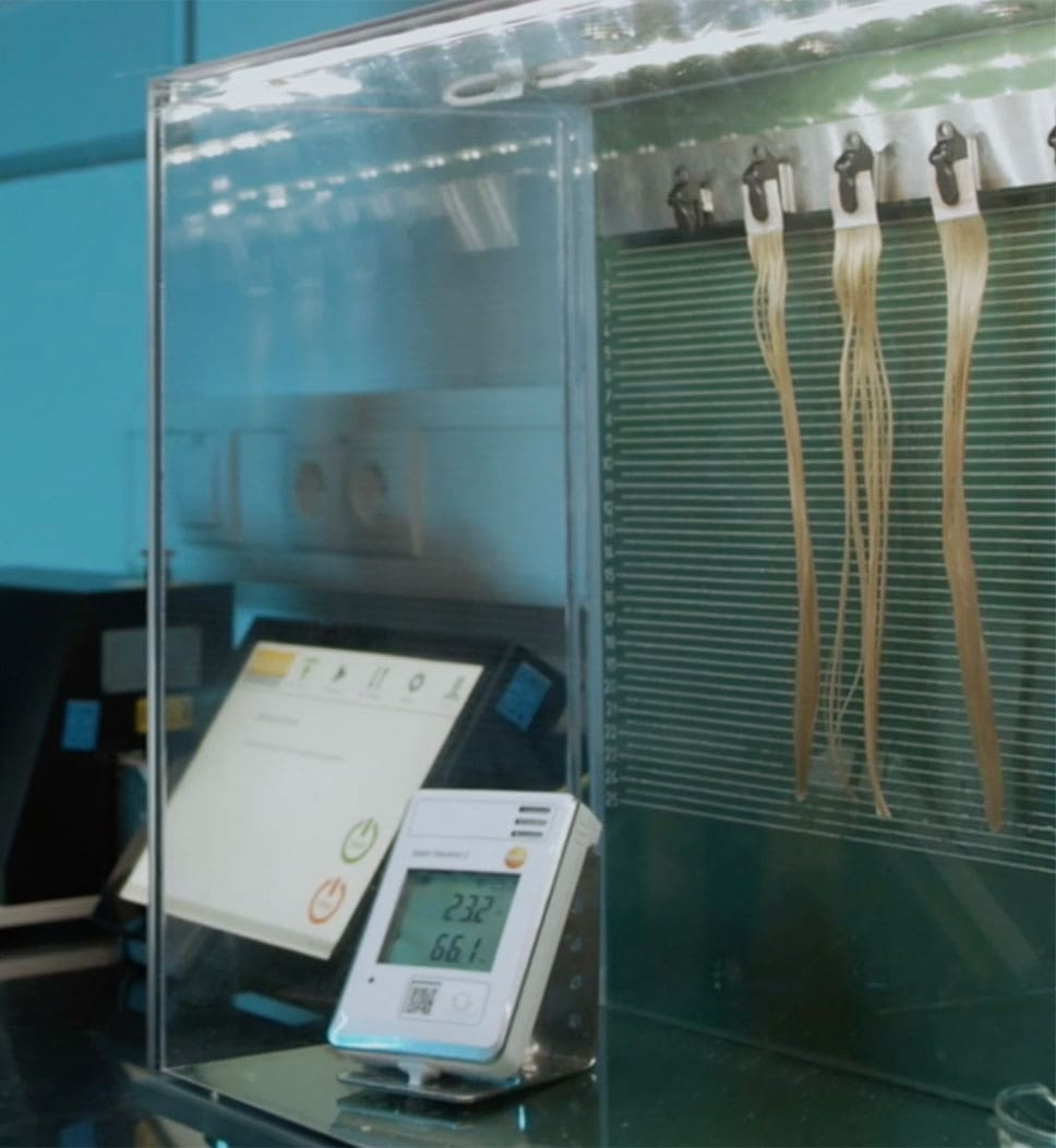 effectableyours: testing the effectiveness, climate chamber - drying the hair. Curl retention.